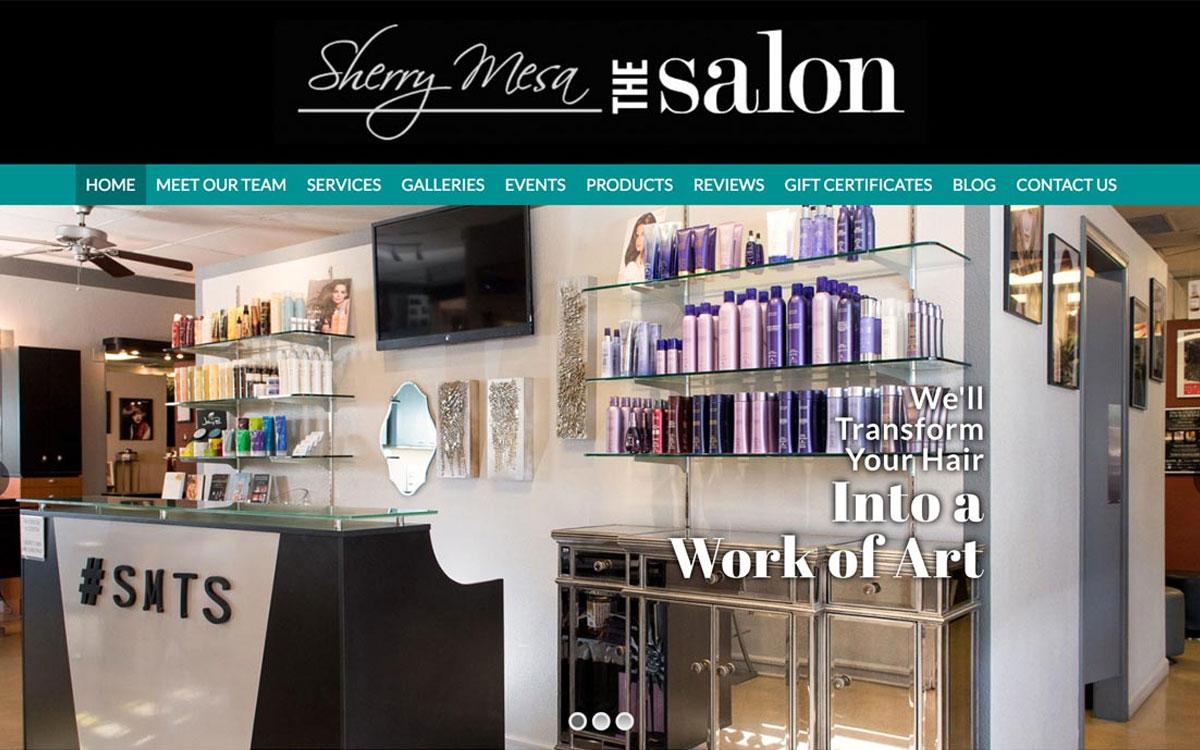 salon web design example